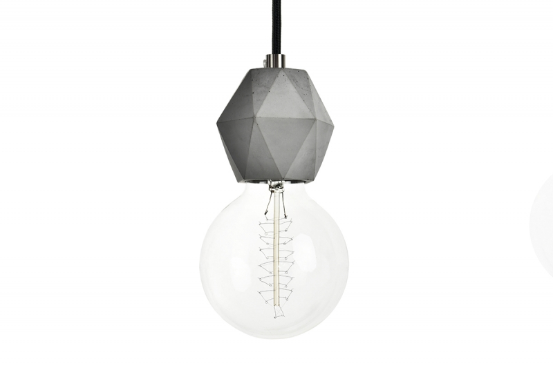 Fiber 03 Concrete pendant lamp - lighting design