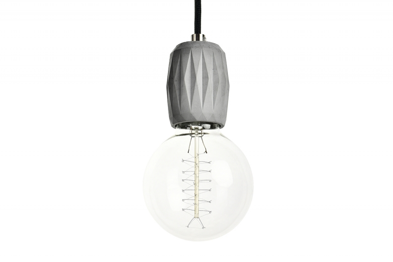 Fiber 02 Concrete pendant lamp - lighting design