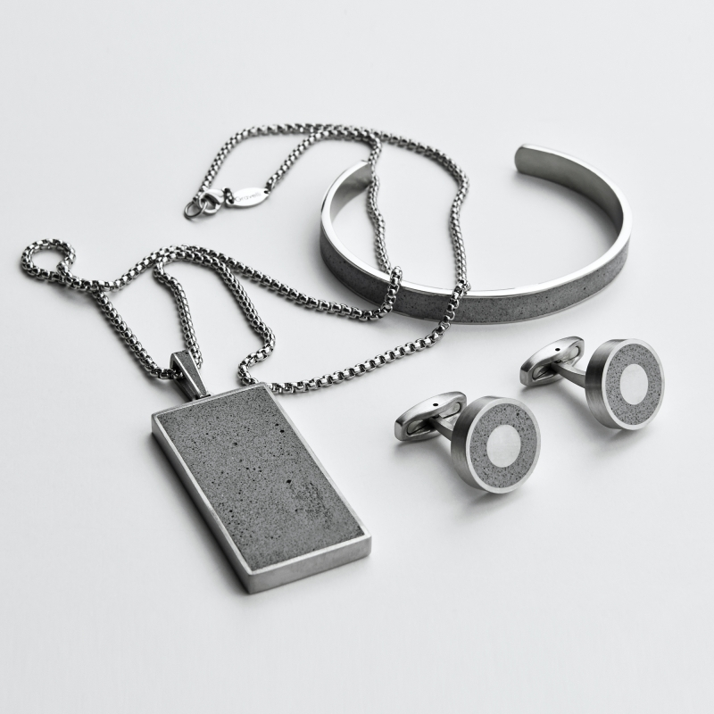 Fusion Man concrete collection - Jewellery design