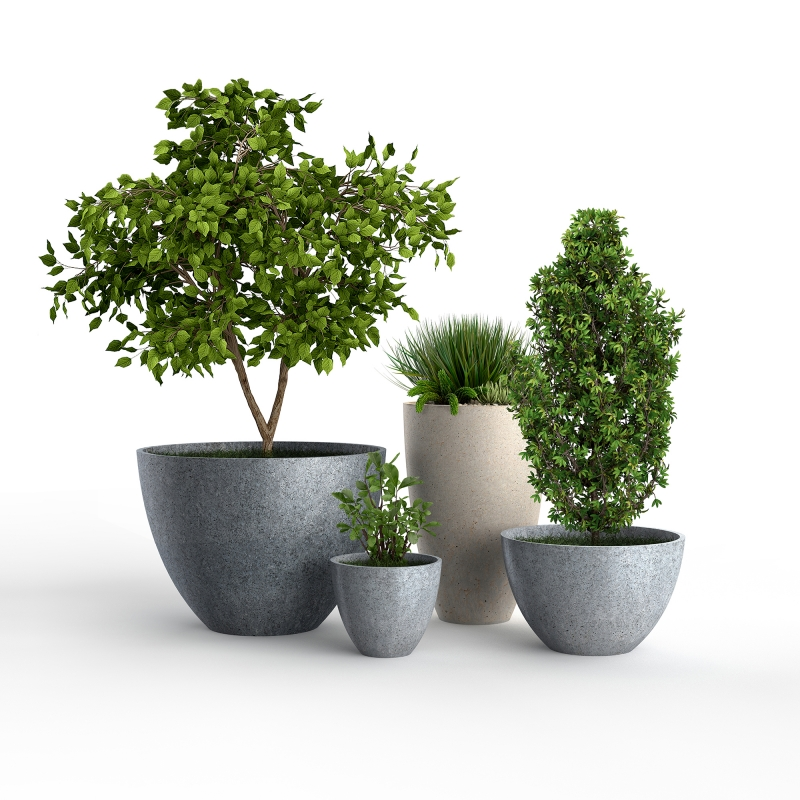 CLASSIC concrete planters for BETONI - product design